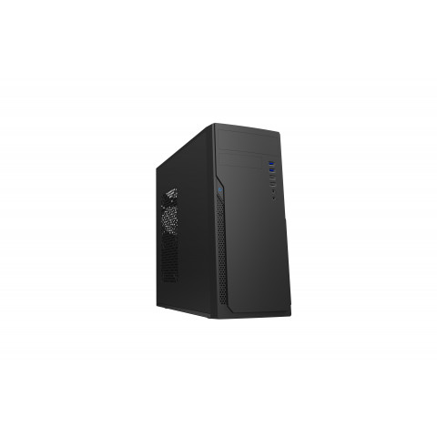 GETTTECH PC CASE MID-TOWER, ATX/MICRO ATX, 500W POWER SUPPLY INCLUDED, MATTE BLACK (GG-1802)
