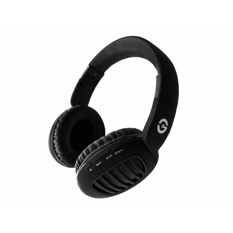 HEADPHONES GETTTECH BLACK JOY, BLUETOOTH, RADIO FM, 3.5MM, (GDJ-33201N)