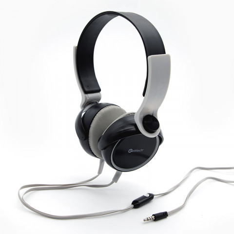 Headset Getttech GH-2540G Rythm, 3.5mm, with microphone, black & grey