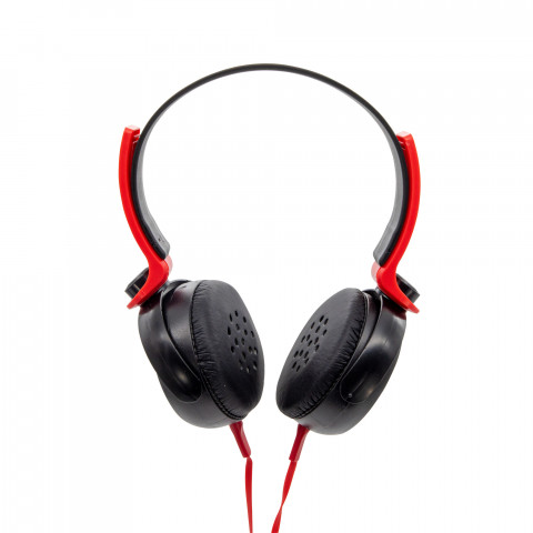 Headset Getttech GH-2540R rythm, 3.5mm, with microphone, black & red