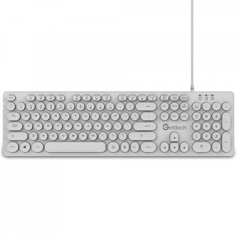 Getttech Backlit Keyboard Ignite, White - SKU: GTI-28201B