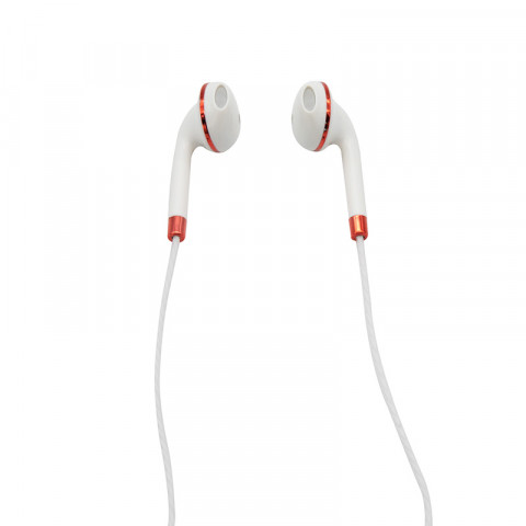 Earphones Getttech MI-1440R Sharp with microphone, white & red, 3.5 mm