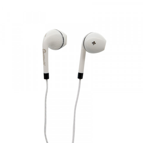 Earphones Getttech MI-1440S Sharp with microphone, white & black, 3.5 mm