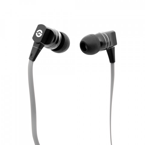 Earphones Getttech MI-2140G Smooth with microphone, black & grey, 3.5 mm